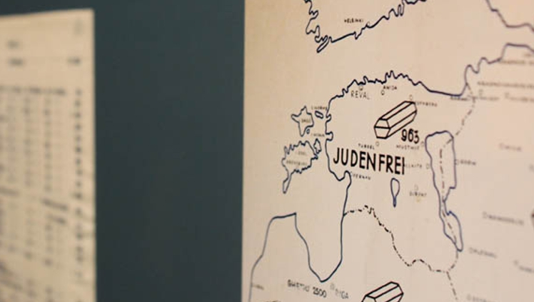 Часть немецкой карты-отчета айнзатцгруппы А, на которой Эстония показана в качестве «юденфрай» - территории свободная от евреев.  Фото: nicoleisthenewblack.com