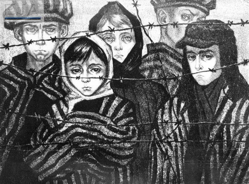 """""""Хотим жить, смеяться"""". Рисунок Симы Шкоп, 1959 год. Фото: EJA"""