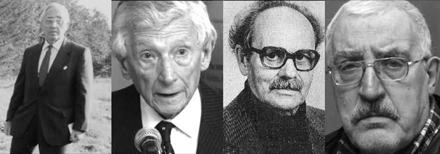 Слева направо: Беньямин Анолик, Исидор Левин, Гуйдо Пант, Яагуп Алаотс. Фото: архив EJA